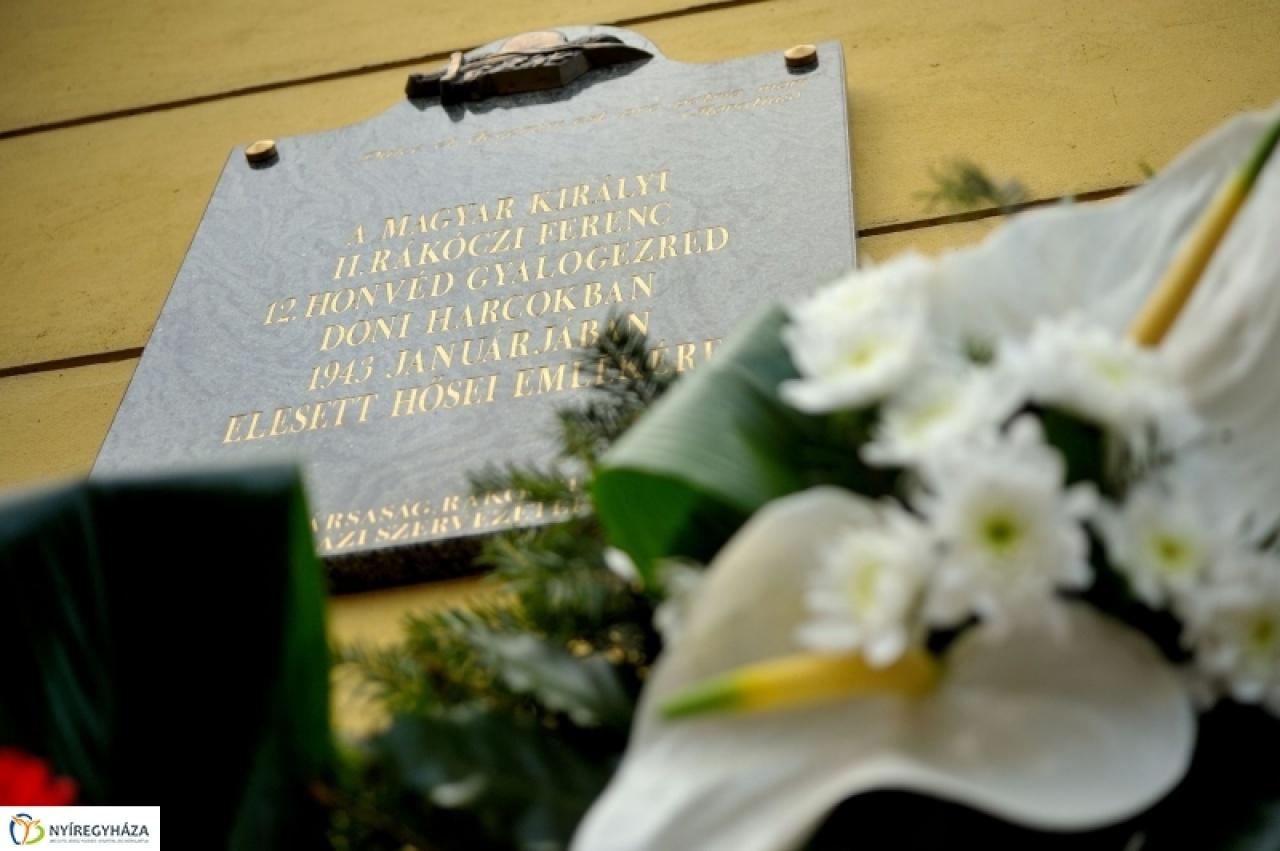 A doni harcokban elesett megyebeli honvédekre emlékeznek