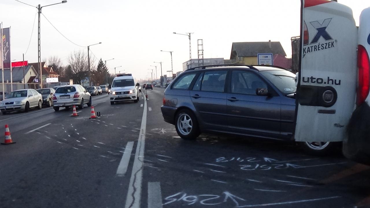 Baleset a Debreceni úton - Személyi sérüléssel járt