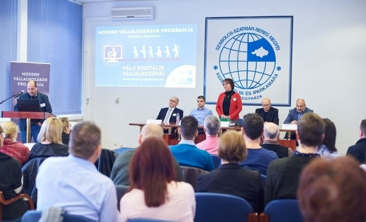Digitális Kkv Nap Nyíregyházán, a Modern Vállalkozások Programja keretében