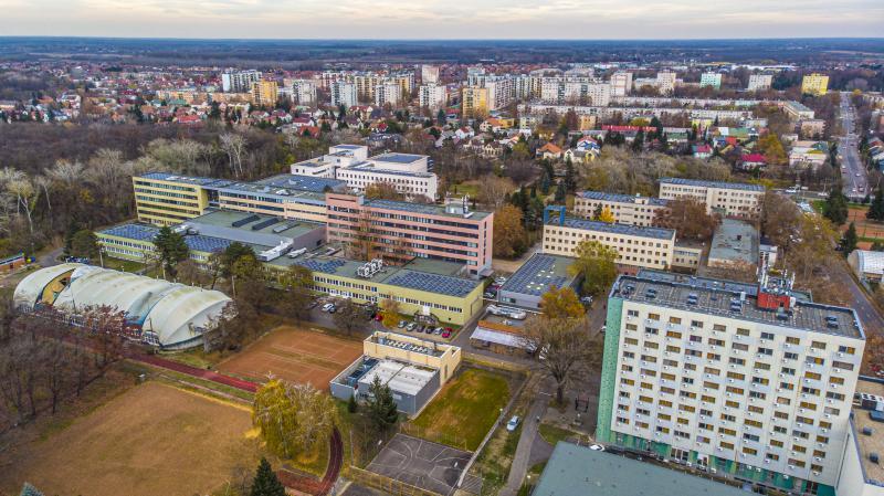 A Nyíregyházi Egyetem a magasból