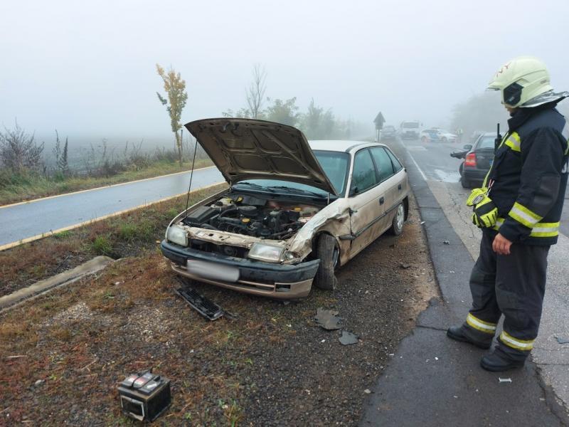 A reggeli ködös időben baleset történt Nyírtelek és Virányos között