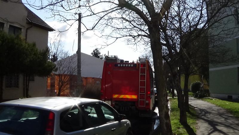 A Tompa Mihály utcára riasztották a tűzoltókat szerda délelőtt