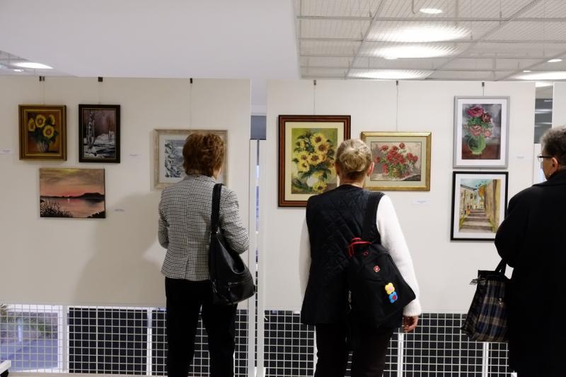 Alkotó idősek - kiállítás a kulturális központban