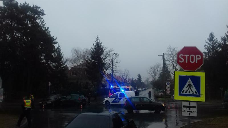 Baleset a Stadion és Krúdy Gyula utcák kereszteződésében