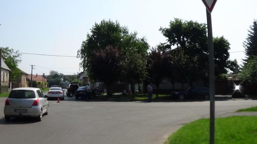 Baleset a Szántó Kovács János utca és az Ady Endre utca kereszteződésében