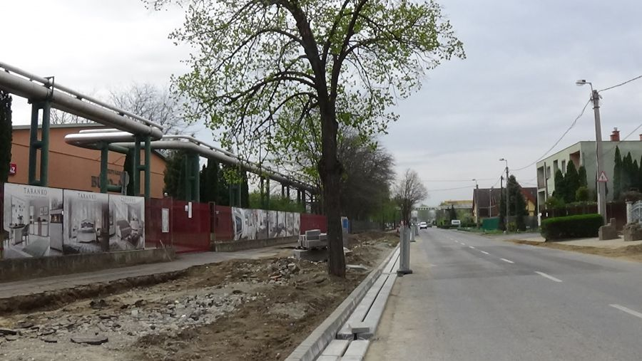 Derkovits utca – Épül a csapadékelvezető rendszer