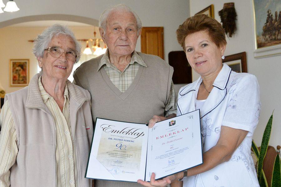 Dr. Pethő Ferenc születésnapi köszöntése