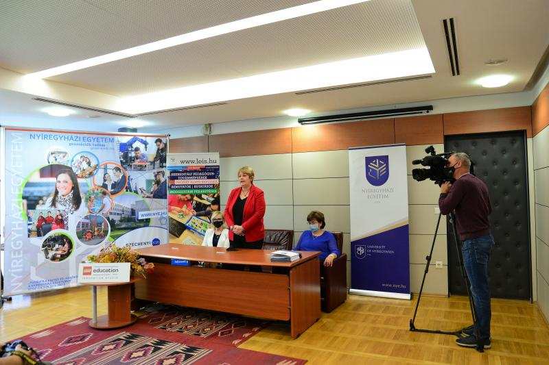 Együttműködési megállapodás aláírása a Nyíregyházi Egyetemen
