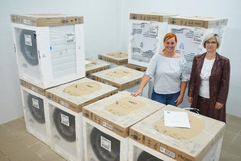 Electrolux adomány a szociális intézményeknek
