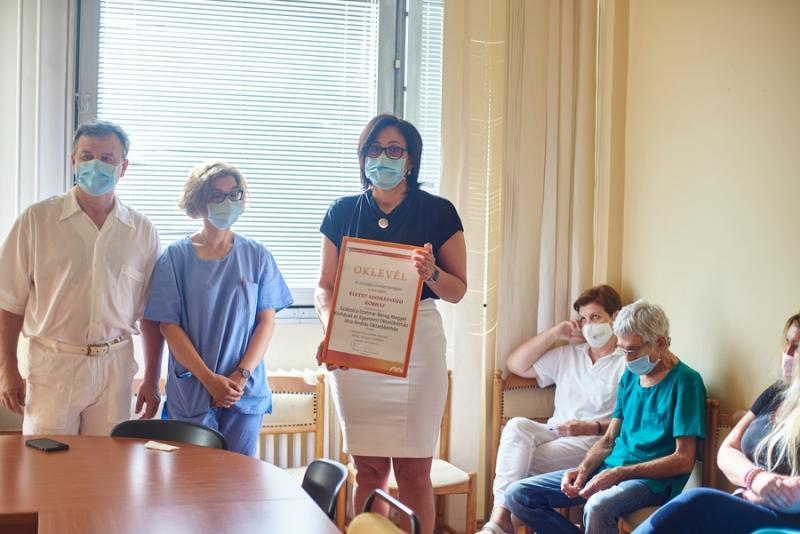 Életet adományozó kórház - oklevél átadó