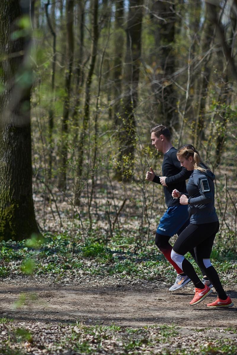Erdei sport a tavaszban