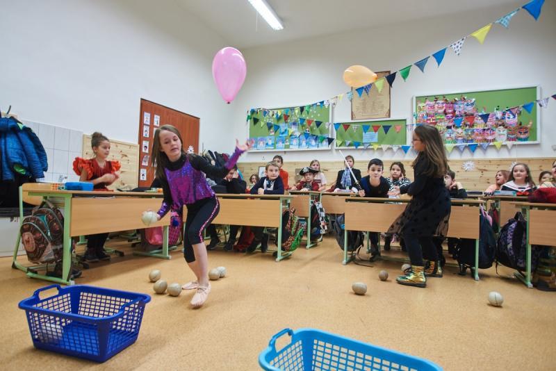 Farsang az evangélikus iskola 3a osztályában