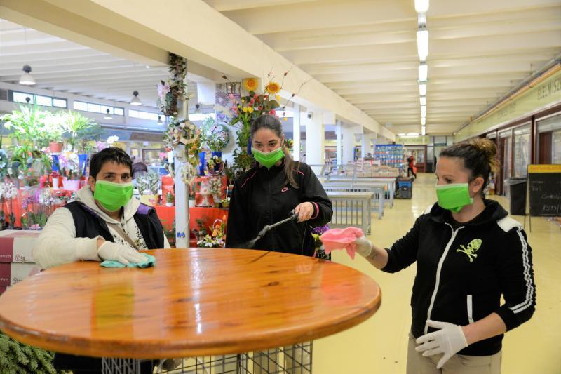 Folyamatos a fertőtlenítés a Piaccsarnokban is