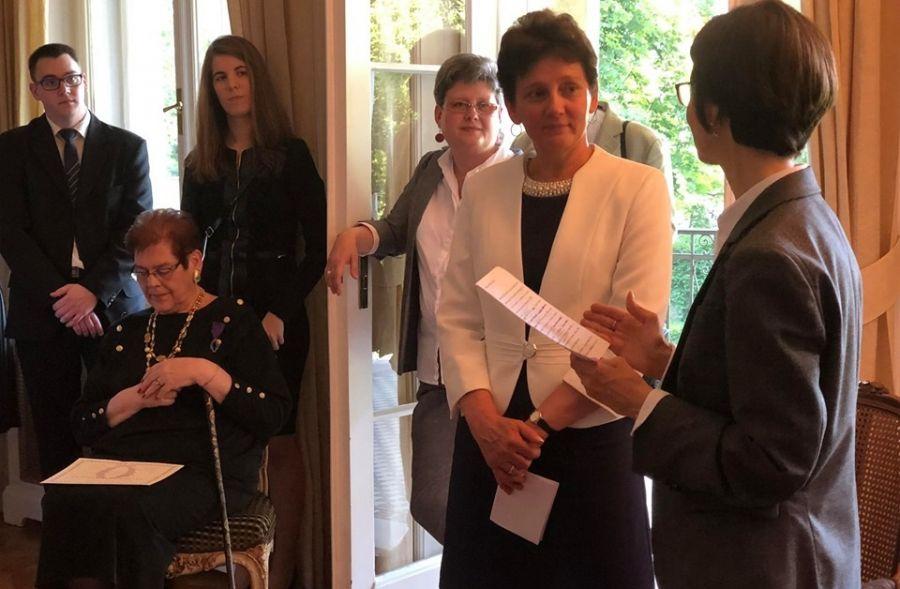 Francia állami kitüntetésben részesült Nagyné Mussó Judit
