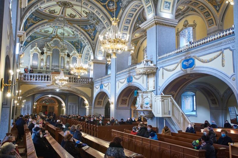 Istentisztelet az evangélikus templomban