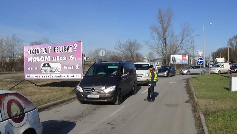Ittasság-ellenőrzés a Debreceni úton