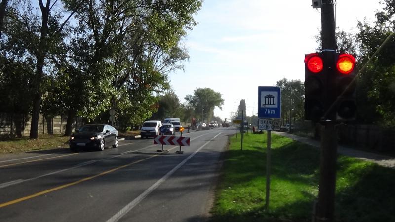 Jelzőlámpás irányításra számítsanak a 36-os számú főúton