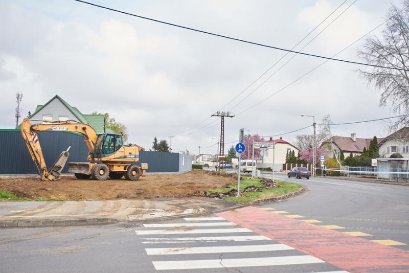 Kállói úti körforgalom építési munkálatok 20210416