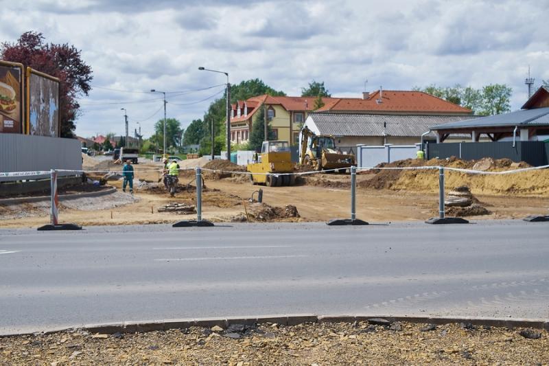 Kállói úti körforgalom építkezés 2021 05 17