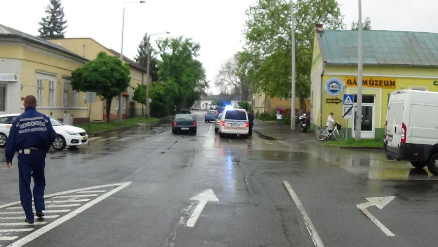 Karambol a Luther és az Eötvös utca kereszteződésében