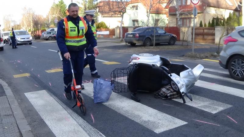 Triciklist gázoltak a Korányin