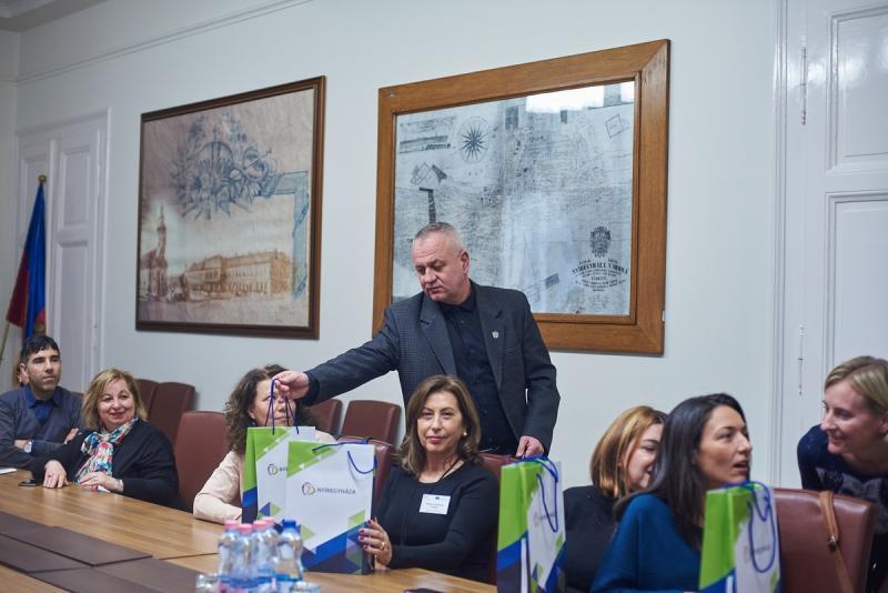 Külföldi pedagógusok a Városházán 20191210