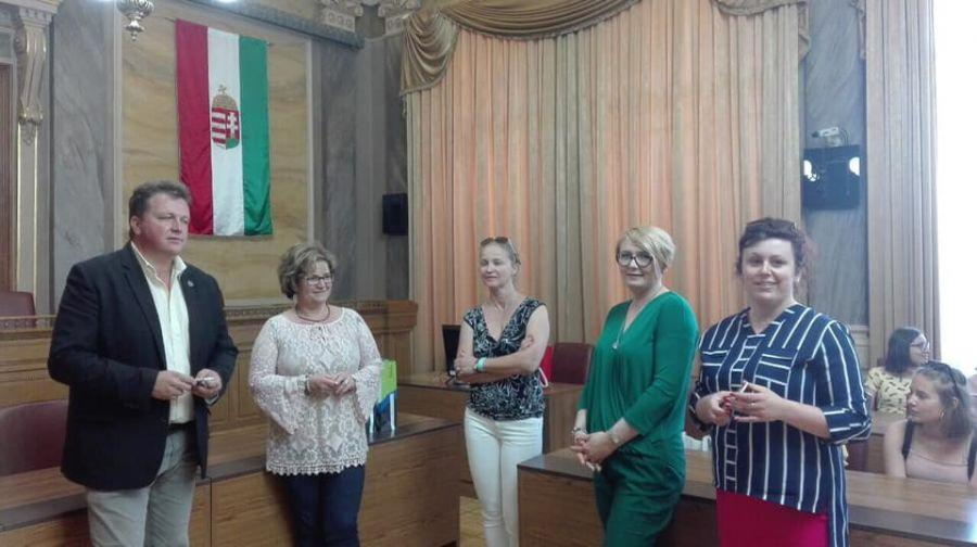 Lengyel testvériskolai látogatás a Bemben