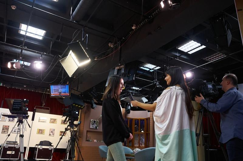 Médiás diákok a Nyíregyházi Televízióban 20200303