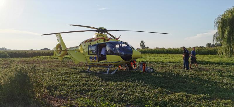 Mentőhelikopter Demecserben