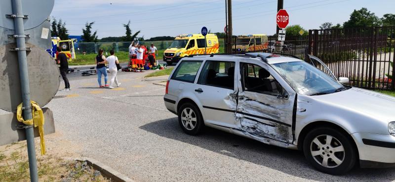 Motoros baleset a 36-os főútvonalon