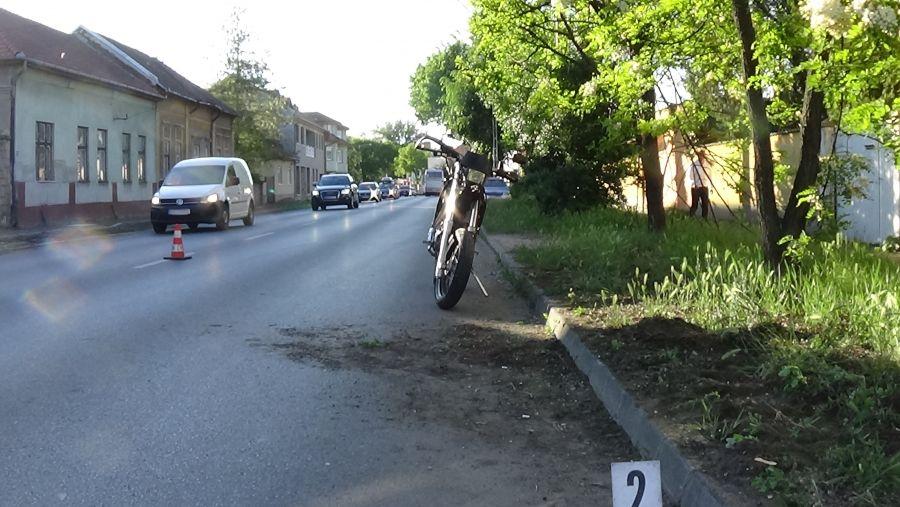 Motoros baleset a Kállói úton