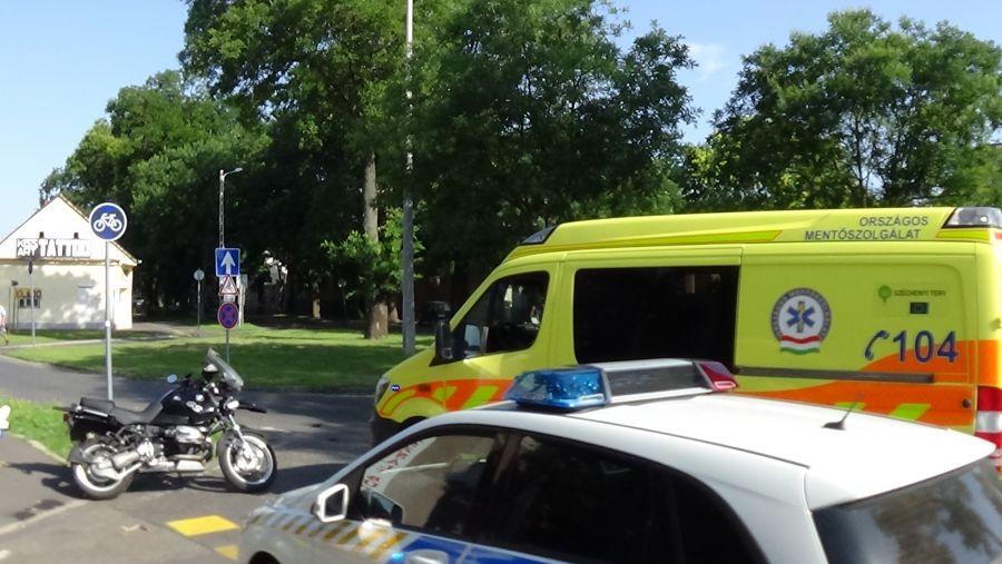 Motoros baleset a Szent István utcán