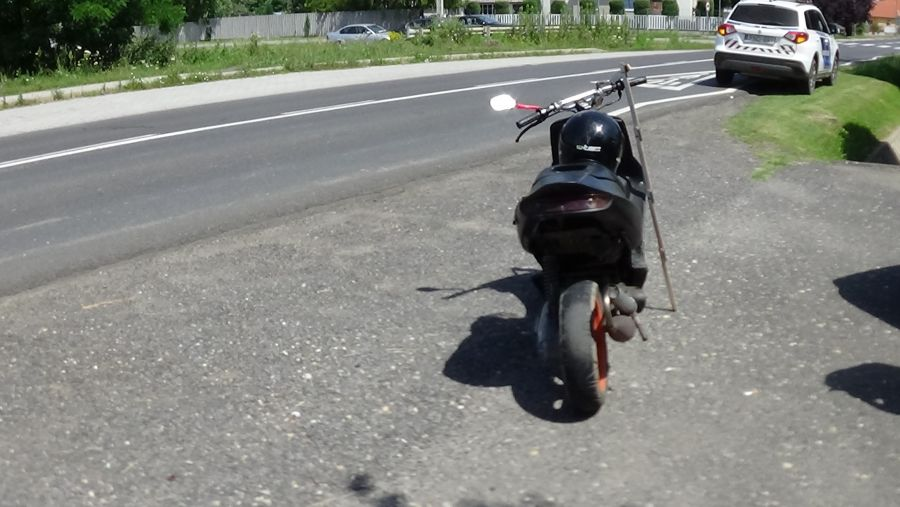 Motoros baleset Nyírturán