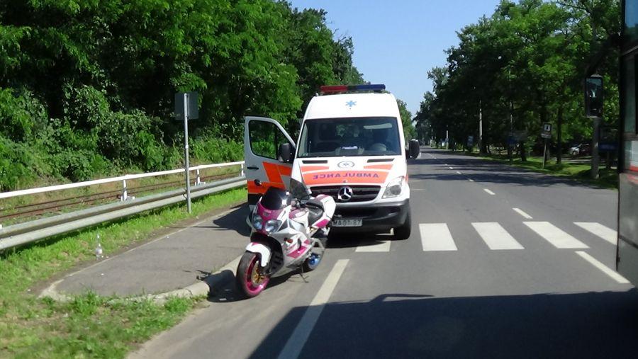 Motoros baleset Sóstón