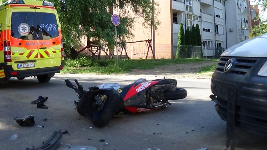 Motoros baleset