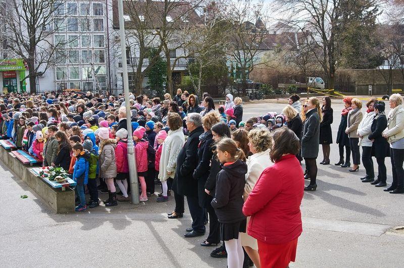 Nemzeti ünnepség a Bem iskolában