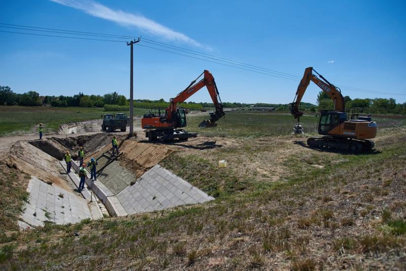 Nyulastó - csapadékelvezető építés 20200522