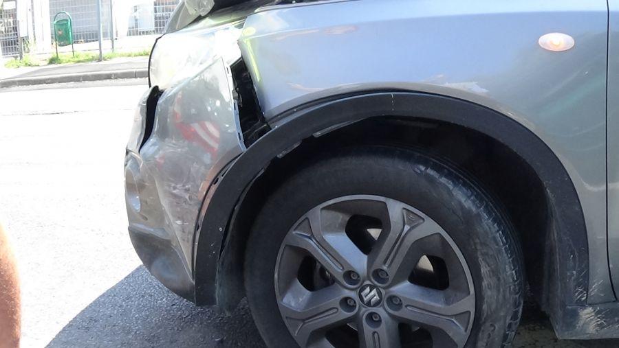Ráfutásos baleset történt péntek délelőtt a Debreceni úton