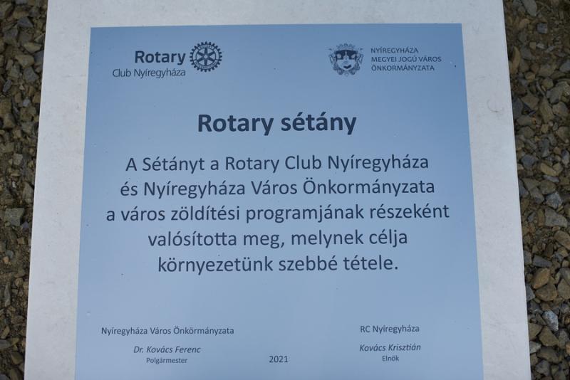 Rotary sétány a Jósavárosban
