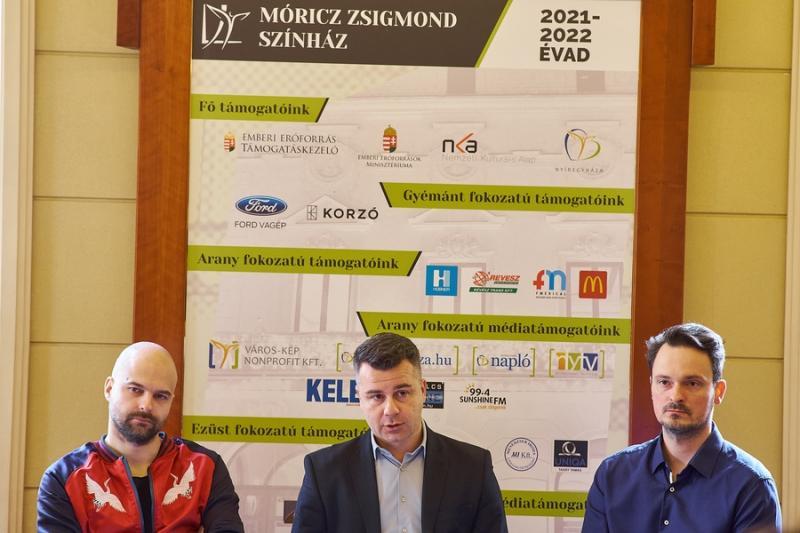 Sajtótájékoztató a Móricz Zsigmond Színházban