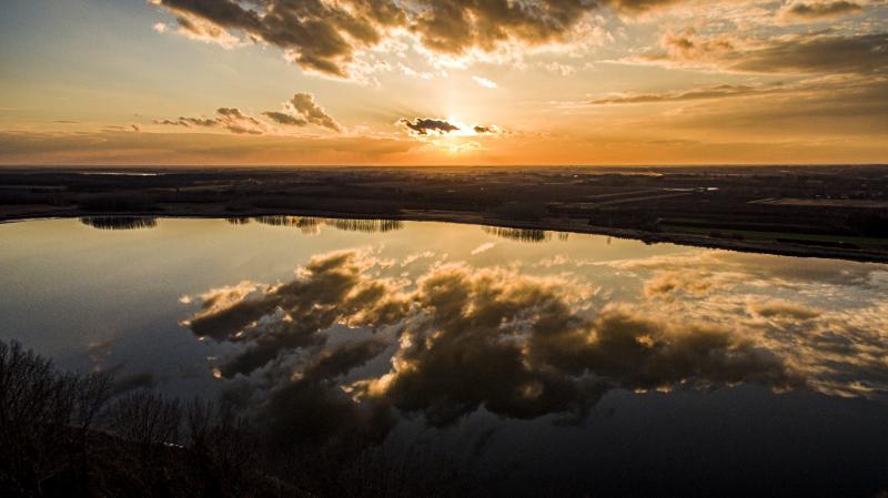 Szelkó-tó és Nagy Vadas-tó a magasból.
