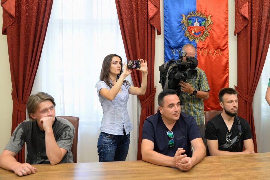 Ukrán vendégek a Városházán
