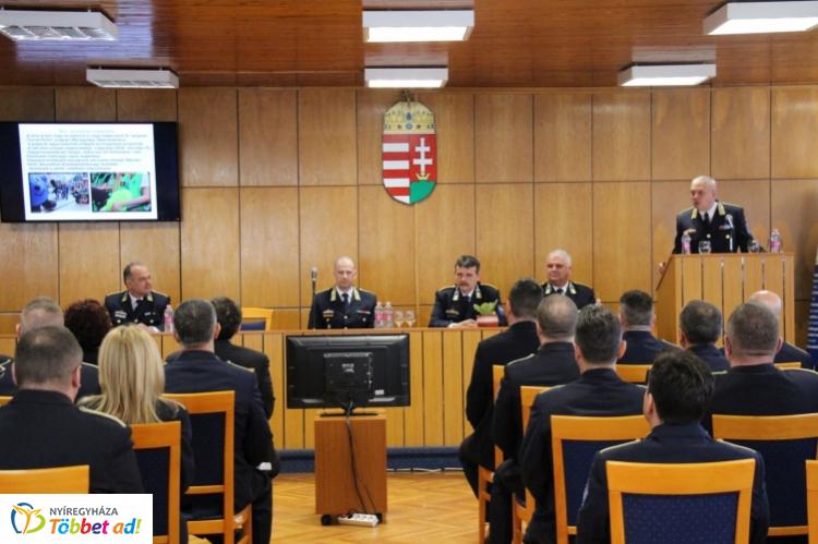 Évértékelő a Szabolcs-Szatmár-Bereg Megyei Rendőr-főkapitányságon