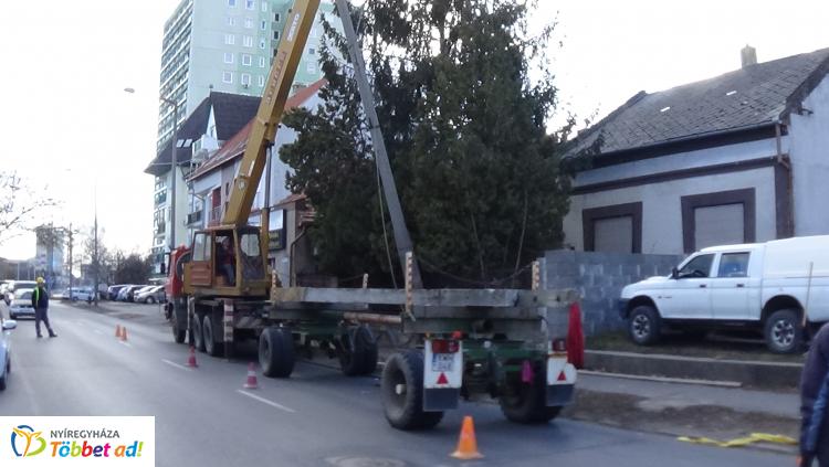 Forgalomkorlátozás – Villanyoszlopokat cserélnek az E.ON munkatársai a Kossuth utcán