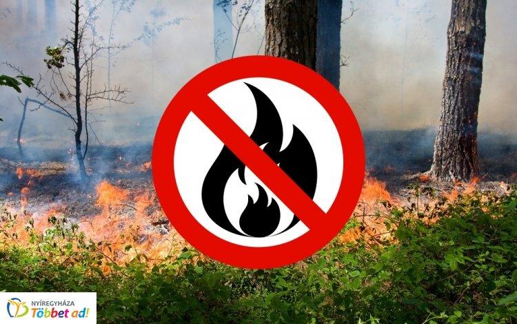 Az egész országban tűzgyújtási tilalom van érvényben, fokozott a tűzveszély!
