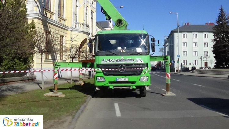Forgalomkorlátozás a Luther utcán – Építkezés zajlik az általános iskolánál