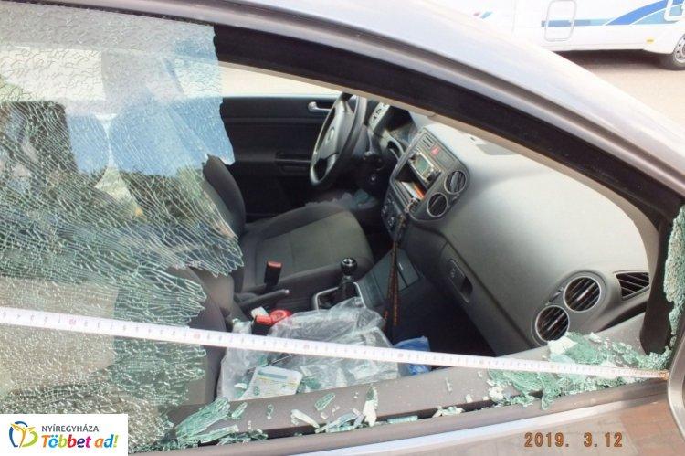 Autót tört fel Nyíregyházán egy 37 éves férfi, bűnügyi őrizetbe vették