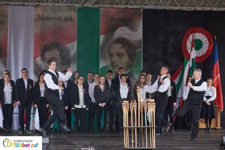Ünnepi megemlékezés az 1848-49-es forradalom és szabadságharc tiszteletére