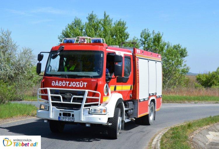 Hétfőn tizenegy szabadtéri tűzesethez riasztották Szabolcs-Szatmár-Bereg megye tűzoltóit