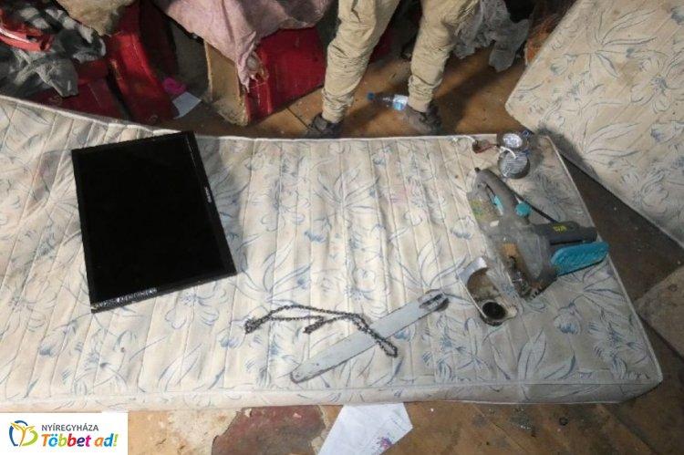 Nyírmadai betörés: televíziót és láncfűrészt lopott – Befejezték az ügy vizsgálatát